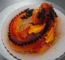 Fire Dragon Cupcake Top by RadicalCat
