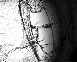 Sephiroth Sketch by Ex-Soldier-Cloud