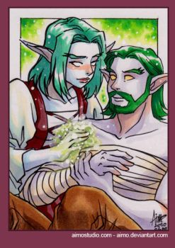PSC - Night Elf Couple by aimo