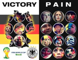FIFA World Cup 2014 : Victory vs Pain by alabhya