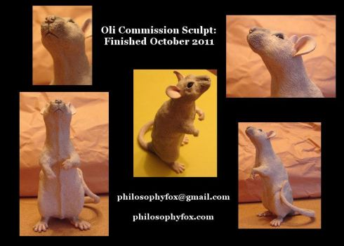 Oli Rat Sculpture: alt. views by philosophyfox