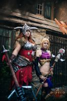 Barbarian and Eirena by Lika-tyan
