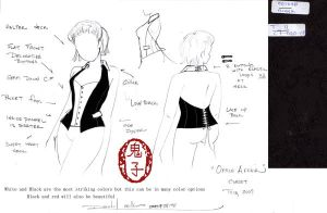 Office affair Corset design by Oniko-art