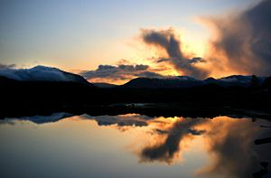 Sunset Reflection by Muskeg