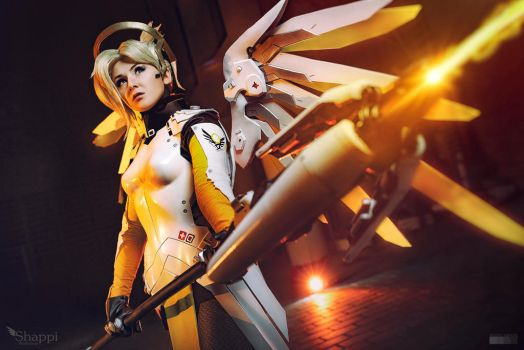 Healing stream engaged  - Mercy Overwatch by Shappi