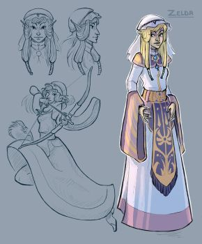 Hylian Princess by painted-bees