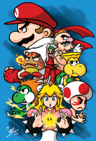 Mushroom Kingdom Fighters by mai-saito