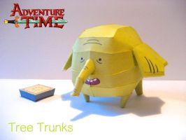 Tree Trunks Papercraft by poethetortoise