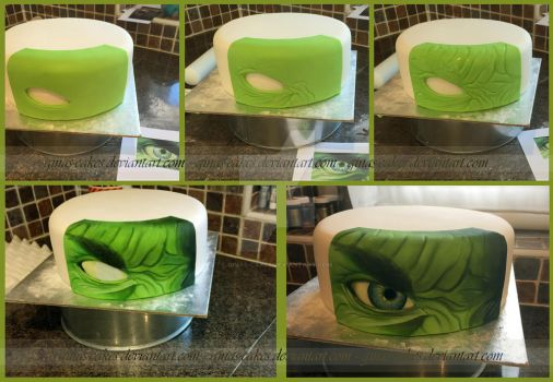Hulk Stages by ginas-cakes