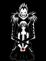 ++Ryuk and Kagome++Embrace++ by DementedKitsune