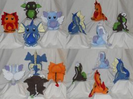 Elemental Dragons For Sale by PlushPrincess