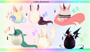 [Adoptables] Auction Unicorns Eggs [CLOSED] by Z-afiro