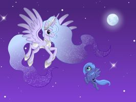 little Luna with her Mum Estelar by miesmauz