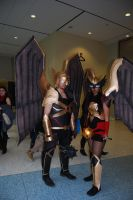 Hawkman and Hawkgirl by JMCosplay