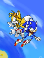 Sonic Boom- Sonic n' Tails by ArtisyOne
