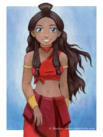 atla - fire nation katara by kamladolly