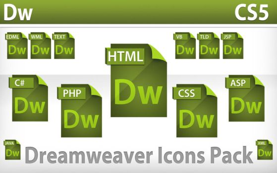 Dreamweaver Icons Pack by NuclearIce17