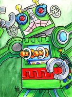 Sketchcard Power Stone Pete Power Charge by fedde