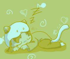Sleepy Kitty by Poada