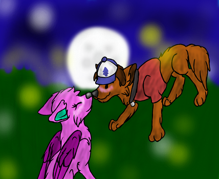 Spring x Wolf Dipper .:AT:. by Thesnowolf360