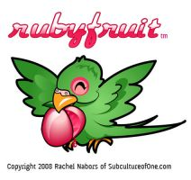 Rubyfruit Parrot: Squeaks by rachelthegreat