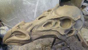 Dragon skull WIP by DragonArmoury