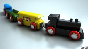 Brio train by svenart