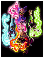 4 Colored Flames by Felolira