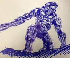 Master Chief: Halo 4 sketch by loveinfullbloom