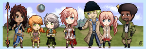 Final Fantasy XIII - Chibi Group by Heroine-of-Time-7