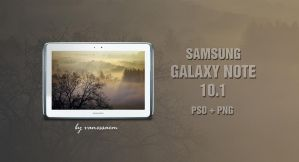 Samsung Galaxy Note 10.1 White Template by vanessaem