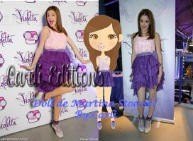 Doll Martina Stoessel By:Carli Edition's by Carli23Cosgrover