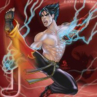 J is for Jin Kazama by cirgy