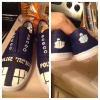 TARDIS Shoes by steamingcup