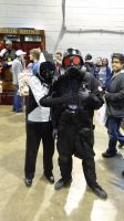 Snippy(me) and Umbrella Corp. Soldier by MsSnippy