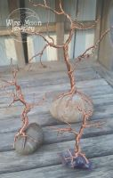 Handmade Recycled Copper Wire Trees by WireMoonJewelry