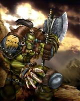 Orc Warboss by Aldin
