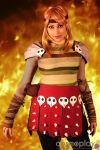 In the Fire. Astrid , How to train your Dragon by Giuzzys