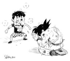 Goku and me by songiang