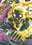 Ghost Rider Bronze Age sketchcard by andypriceart