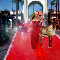 Mrs. Claus on the red carpet by ritaflowers