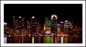 Downtown San Diego at Night by snakeey11