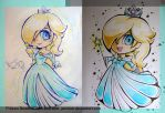 Rosalina aww 2015 and 2016 chibi traditional by JamilSC11