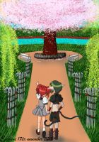 Kisshu and Ichigo on a date by Iloveyoukisshu