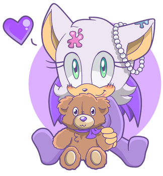Baby Rouge the Bat by SiIent-AngeI