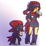 Julie with weavile by Alyson676