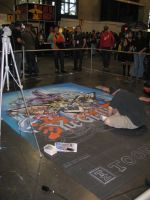 Chalk Painting by Mew-Suika-Chi