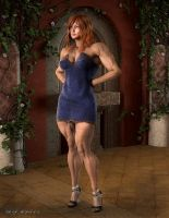 Muscle and Beauty_ Abigail in a Dress by MichelleLeRainbow