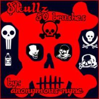 SkullzPSP9Brushes by anonymous-nyne