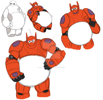 more BH6 Chubby Baymax doodles by Spinosaur123